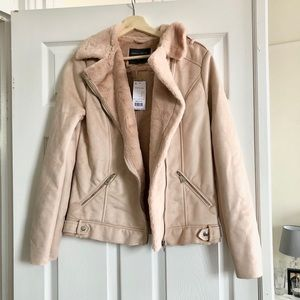 Jackets & Blazers - Super soft faux fur and suede jacket